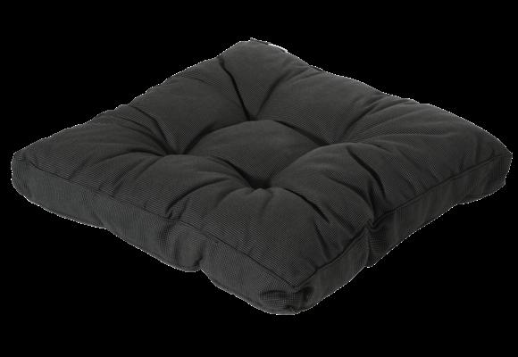 Madison Florance Loungekussen | Rib Black | ca. 73x73cm