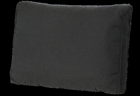 Madison Luxe Loungekussen   Rib Black   60x40cm