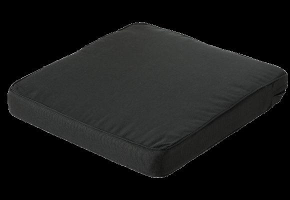 Madison Luxe Loungekussen | Rib Black | 73x73cm