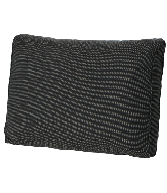 Madison Madison Luxe Loungekussen   Rib Black   73x40cm