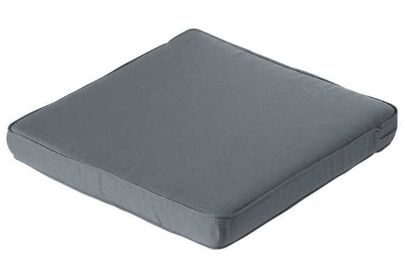 Madison Luxe Loungekussen | Rib Grey | 73x73cm
