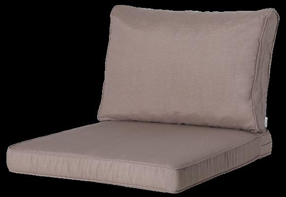 Pure Luxe Loungekussens | Panama Taupe | 60x60 + 60x40cm