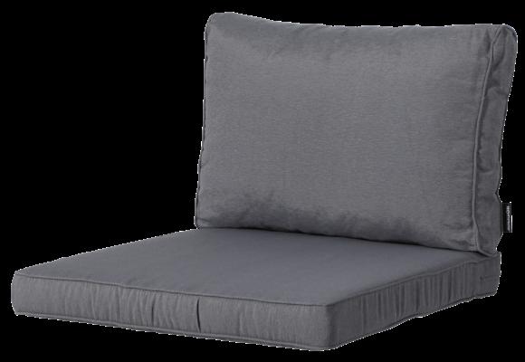 Pure Luxe Loungekussens | Panama Grey | 73x73 + 73x40cm
