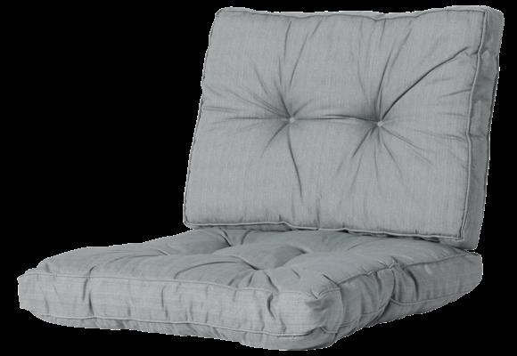 Madison Florance Loungekussens | Basic Grey | ca. 73x73 + 73x43cm