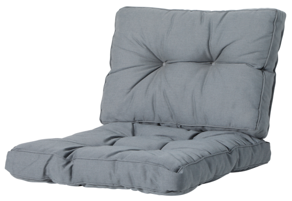 Madison Florance Loungekussens | Rib Grey | ca. 60x60 + 60x43cm