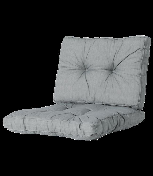 Madison Madison Florance Loungekussens   Basic Grey   4 SETS   ca. 73x73 + 73x43cm