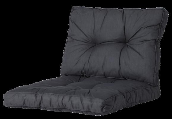 Madison Florance Loungekussens | Basic Black | 4 SETS | ca. 60x60 + 60x43cm