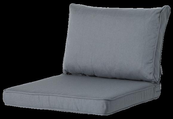 Madison Luxe Loungekussens | Rib Grey | 60x60 + 60x40cm