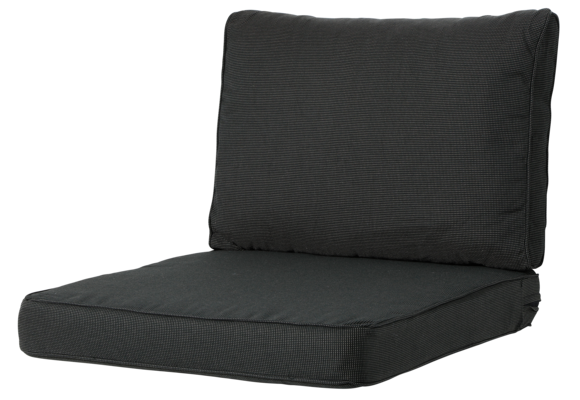 Madison Luxe Loungekussens | Rib Black | 73x73 + 73x40cm