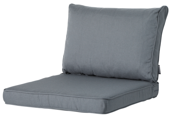 Madison Luxe Loungekussens | Rib Grey | 73x73 + 73x40cm