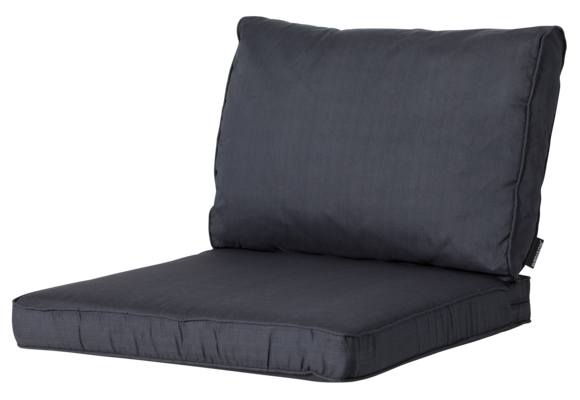 Madison Luxe Loungekussens |Basic Black | 73x73 + 73x40cm