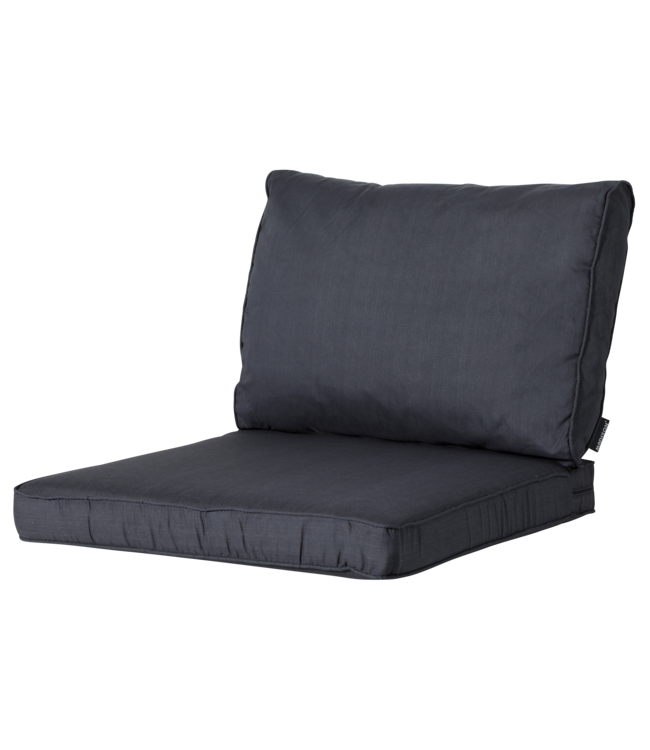 Madison Madison Luxe Loungekussens |Basic Black | 73x73 + 73x40cm