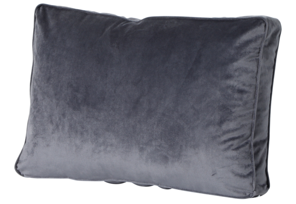 Madison Luxe Loungekussen | Outdoor Velvet Grey | 60x40cm
