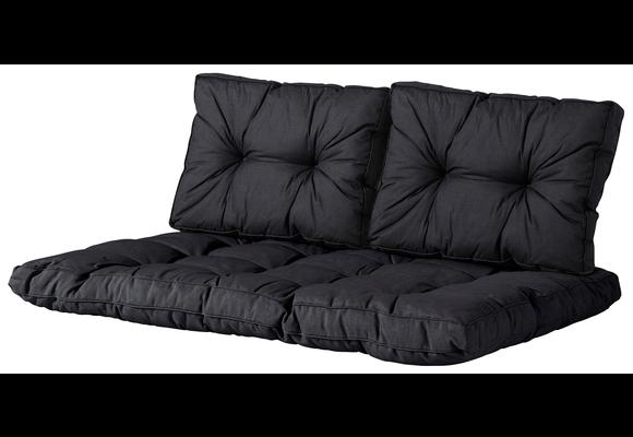 Madison Florance palletkussen set | Basic Black | ca. 120x80cm + rugkussens