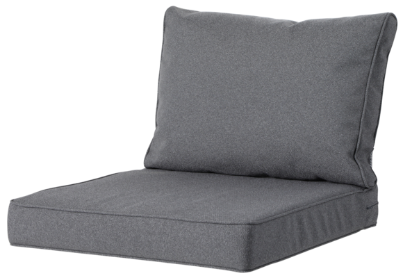 Madison Luxe Loungekussens | 4 SETS | Outdoor Manchester Grey | 60x60 + 60x40cm | Extra dik