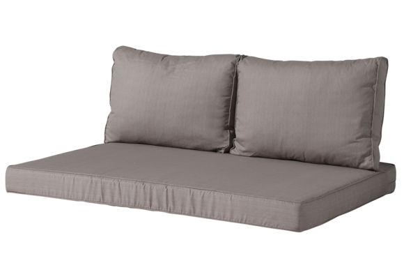 Madison Lounge palletkussen set | Basic Taupe | 120x80cm + rugkussens