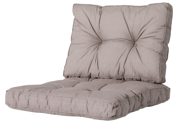 Madison Florance Loungekussens | Basic Taupe | ca. 60x60 + 60x43cm