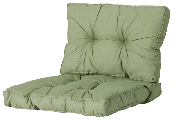 Madison Florance Loungekussens | Basic Green | ca. 60x60 + 60x43cm