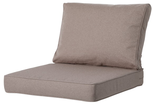 Madison Luxe Loungekussens | Outdoor Manchester Taupe | 60x60 + 60x40cm | Extra dik