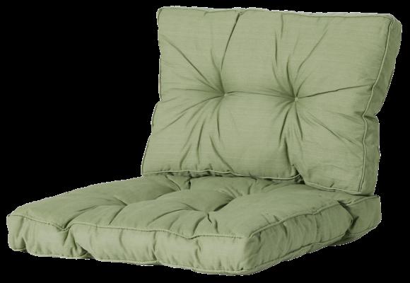 Madison Florance Loungekussens | Basic Green | 4 SETS | ca. 73x73 + 73x43cm