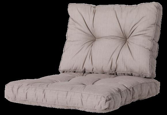 Madison Florance Loungekussens | Basic Taupe | 4 SETS | ca. 60x60 + 60x43cm