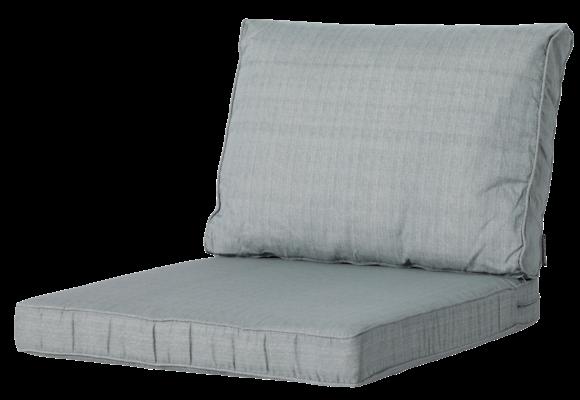 Madison Luxe Loungekussens   4 SETS   Basic Grey   73x73 + 73x40cm