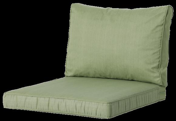 Madison Luxe Loungekussens | 4 SETS | Basic Green | 73x73 + 73x40cm
