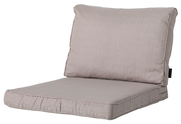 Madison Luxe Loungekussens   4 SETS   Basic Taupe   73x73 + 73x40cm