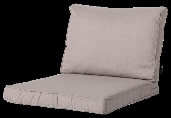 Madison Luxe Loungekussens | Basic Taupe | 60x60 + 60x40cm