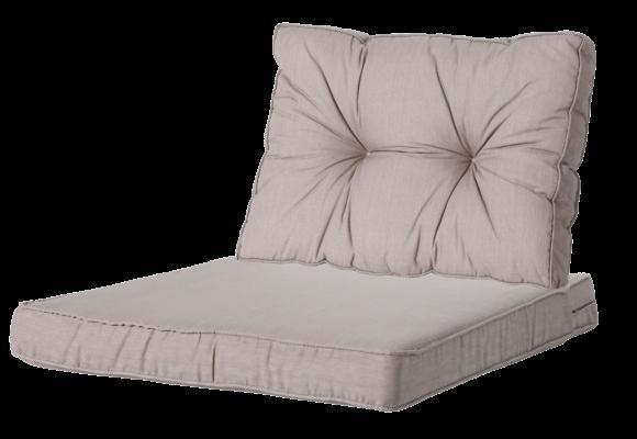 Madison Luxe & Florance Loungekussens | Basic Taupe | 60x60 + 60x43cm