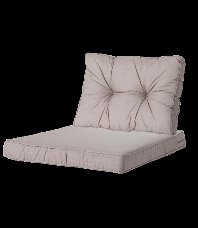 Madison Madison Luxe & Florance Loungekussens | Basic Taupe | 60x60 + 60x43cm
