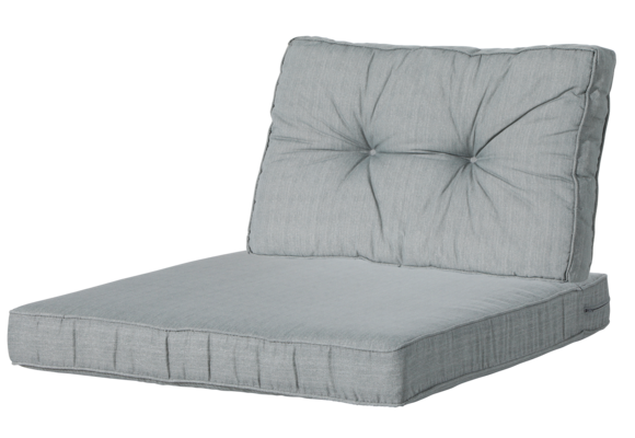 Madison Luxe & Florance Loungekussens | Basic Grey | 60x60 + 60x43cm