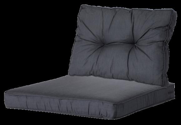 Madison Luxe/Florance Loungekussens | Basic Black | 60x60 + 60x43cm