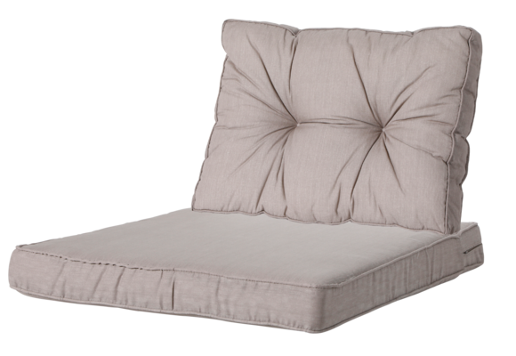 Madison Luxe/Florance Loungekussens   4 SETS   Basic Taupe   73x73 + 73x43cm