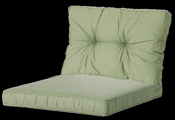 Madison Luxe/Florance Loungekussens | 4 SETS | Basic Green | 73x73 + 73x43cm