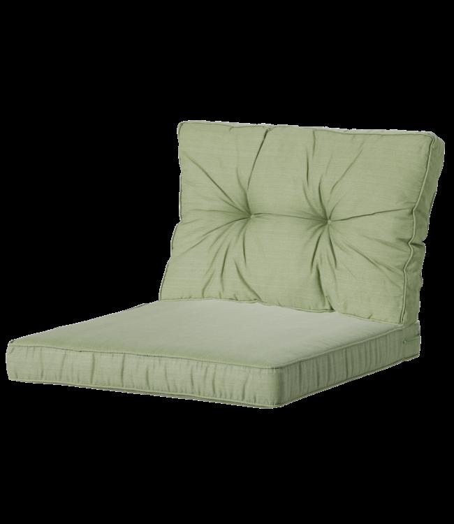 Madison Madison Luxe & Florance Loungekussens | 4 SETS | Basic Green | 60x60 + 60x43cm - Copy