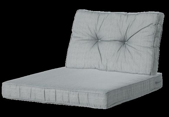 Madison Luxe & Florance Loungekussens | 4 SETS | Basic Grey | 60x60 + 60x43cm