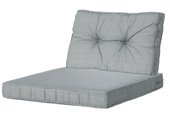 Madison Luxe/Florance Loungekussens | 4 SETS | Basic Grey | 73x73 + 73x43cm - Copy