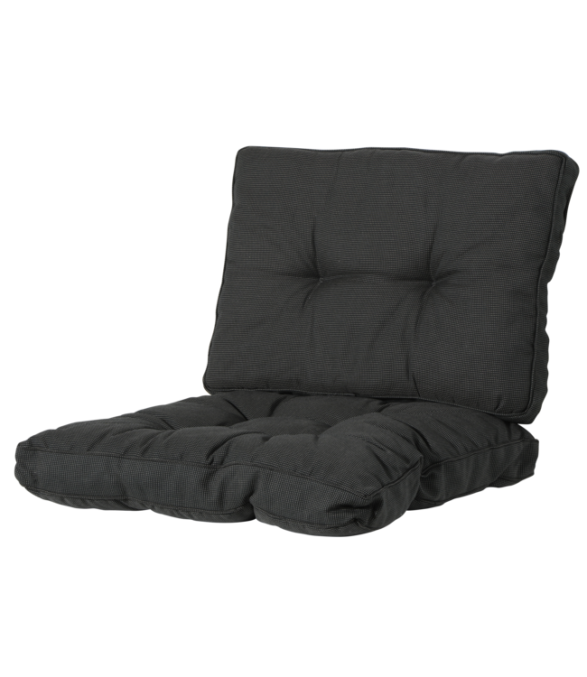 Madison Madison Florance Loungekussens   Rib Black   4 SETS   ca. 73x73 + 73x43cm