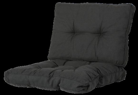 Madison Florance Loungekussens | Rib Black | 4 SETS | ca.  60x60 + 60x43cm