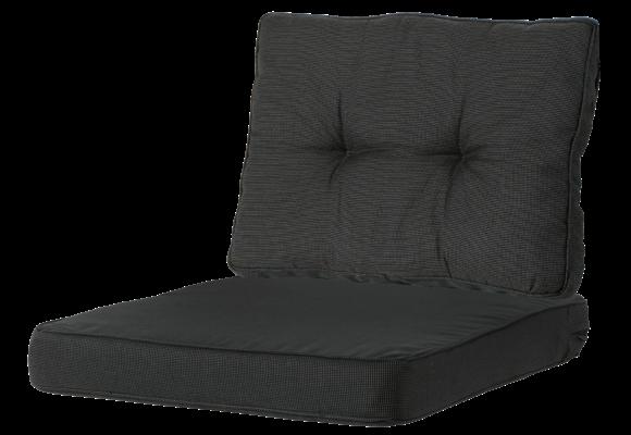 Madison Luxe/Florance Loungekussens | 4 SETS | Rib Black | 60x60 + 60x43cm