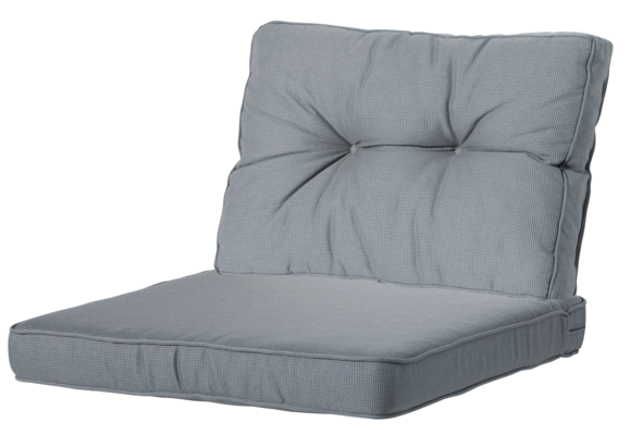 Madison Luxe/Florance Loungekussens | 4 SETS | Rib Grey | 60x60 + 60x43cm