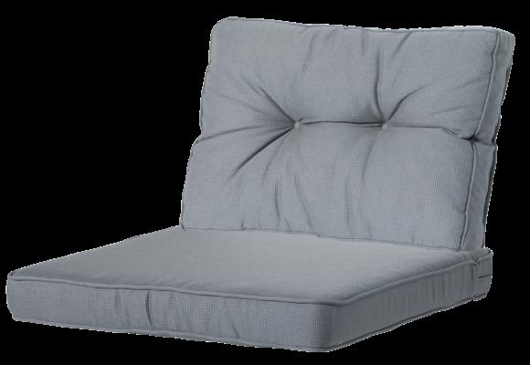 Madison Luxe/Florance Loungekussens | 4 SETS | Rib Grey | 73x73 + 73x43cm