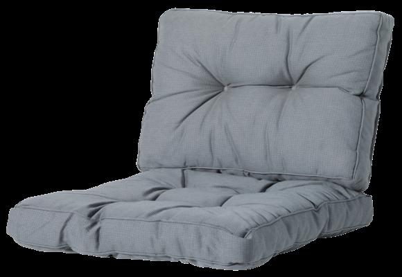 Madison Florance Loungekussens | Rib Grey | 4 SETS | ca. 73x73 + 73x43cm