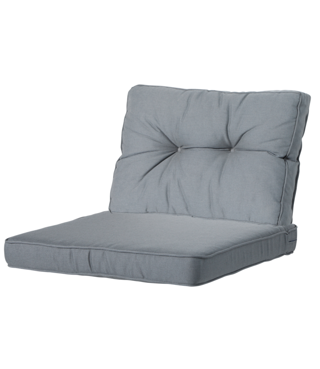Madison Madison Luxe/Florance Loungekussens | Rib Grey | 60x60 + 60x43cm