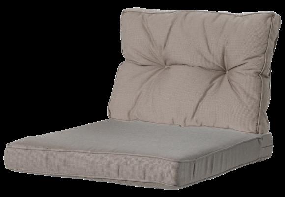 Madison Luxe/Florance Loungekussens   4 SETS   Rib Liver   60x60 + 60x43cm
