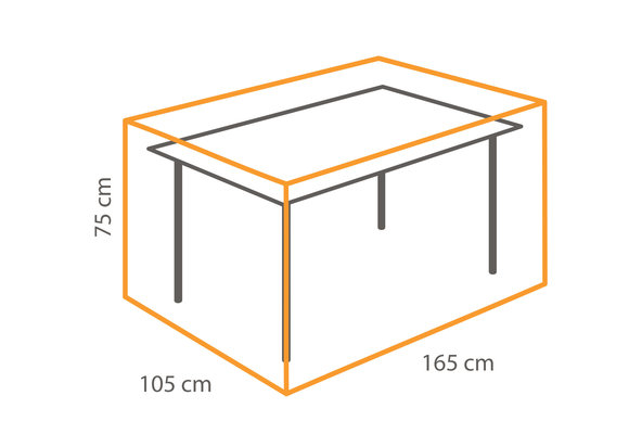 Outdoor Covers Tafel beschermhoes | 165x105x75cm
