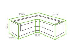 Outdoor Covers Loungeset beschermhoes | Trapezium | 275x275x70cm