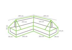 Outdoor Covers Loungeset beschermhoes | Plateau | 295x295x94cm