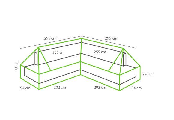 Outdoor Covers Loungeset beschermhoes Plateau | 295x295x94cm